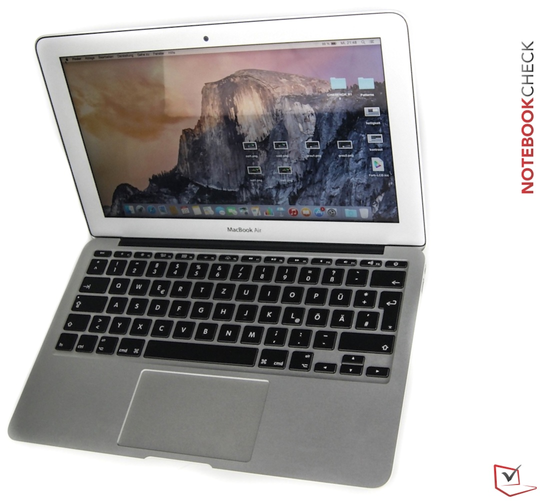 apple macbook air 11 early 2015 notebookcheck. Black Bedroom Furniture Sets. Home Design Ideas