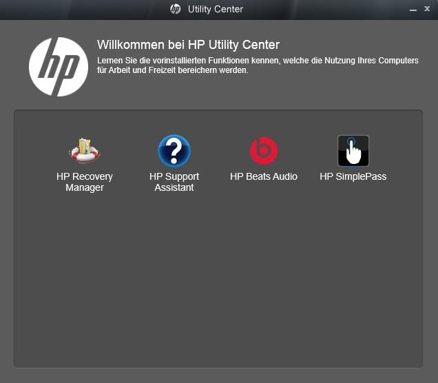 Hp utility center что это за программа