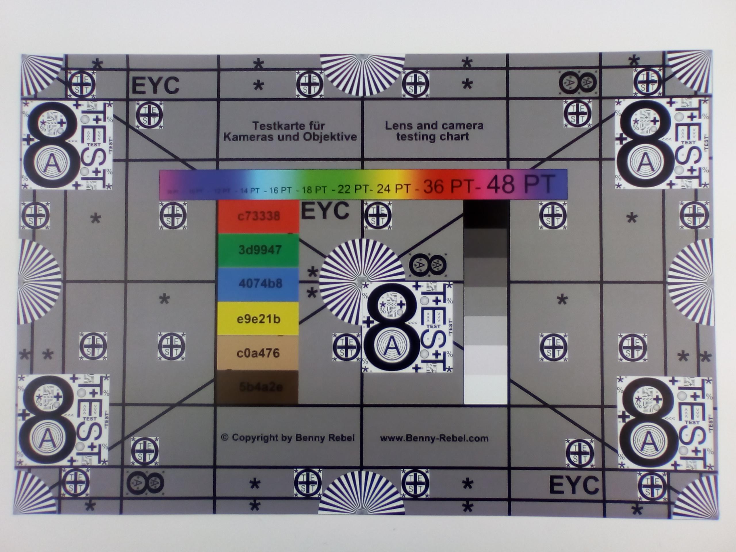 измеритеРьная табРица основная камера