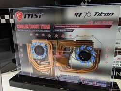 Радиаторы в MSI GT76 обладает повышенной площадью ребер, вентиляторы выбрасывают воздух сразу в две стороны