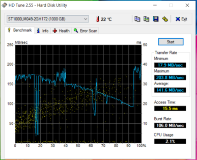 HD Tune: Seagate Barracuda Pro HDD
