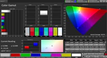 CalMAN Color Space (DCI-P3)
