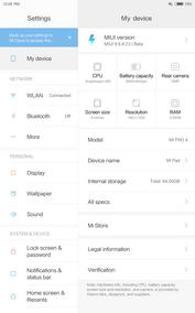Xiaomi Mi Pad 4 (LTE), сведения об устройстве
