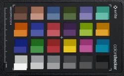 ColorChecker. Исходные цвета представлены в нижней половине каждого блока