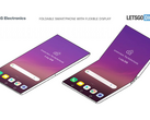 LG's futuristic foldable flip-phone design concept. (Source: Let's Go Digital)