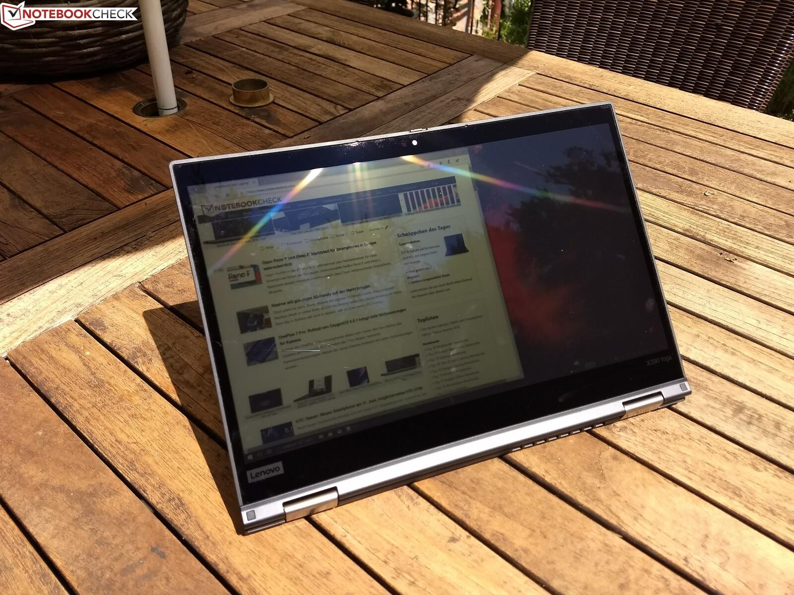 Ноутбук Lenovo ThinkPad X390 Yoga (i7, FHD)  Обзор от Notebookcheck