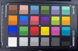 Основная камера ZenPad Z300M. Правильный цвет внизу квадрата