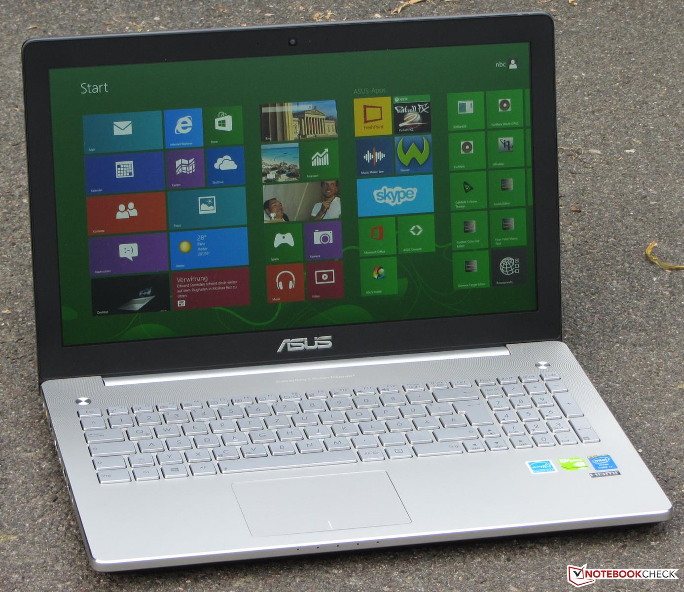 обзор ноутбука Asus N550jv Notebookcheck Rucom