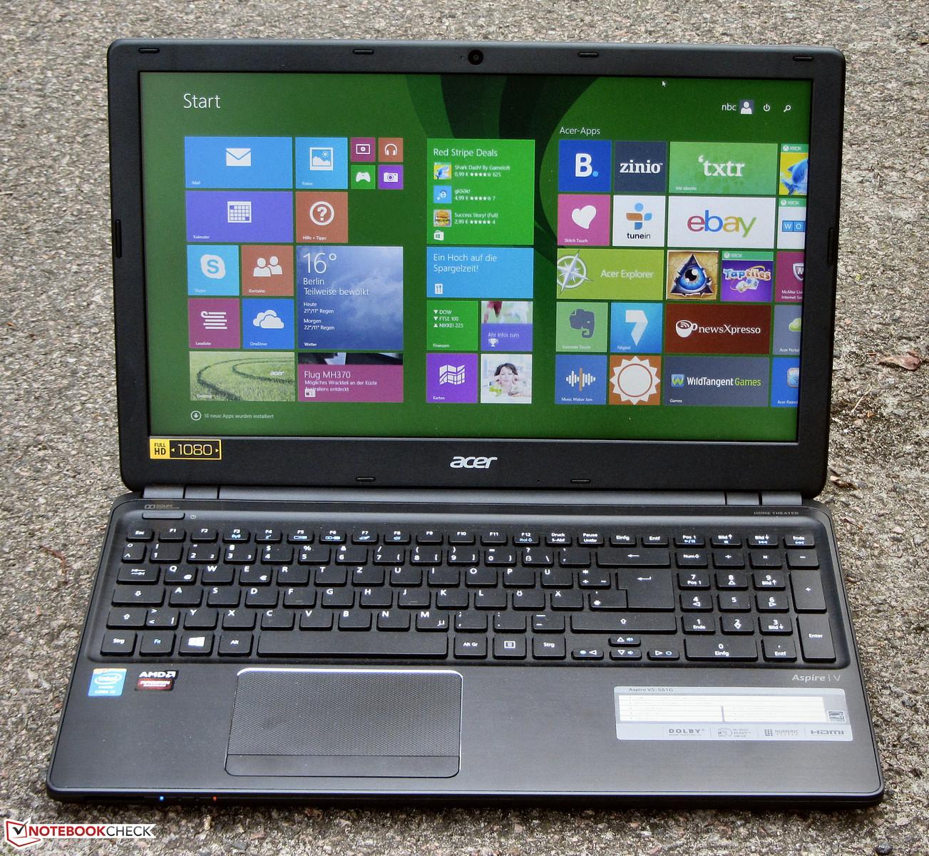 Обзор ноутбука Acer Aspire V5-561G - Notebookcheck-ru.com