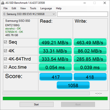 AS SSD: Samsung 850 EVO