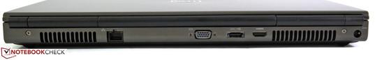 Сзади: Ethernet, видеовыход VGA, комбо-порт eSATA/USB 2.0, HDMI, разъем питания