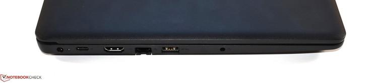 Слева: коннектор питания, USB 3.1 Type-C Gen 1, HDMI, RJ45 Ethernet, USB 3.0 Type-A, аудио 3.5 мм
