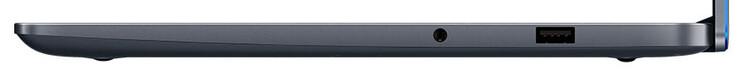 Справа: Совмещённый аудиопорт, USB A 2.0