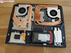 Индивидуальные наборы теплотрубок для процессора и видеокарты в MSI GT76