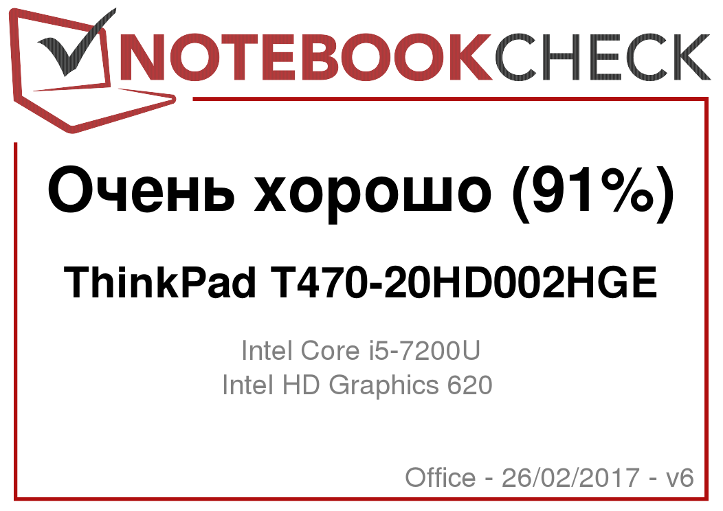 Краткий обзор ноутбука Lenovo ThinkPad T470 (Core i5, Full